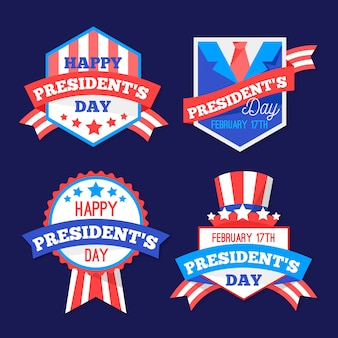 President day label collection