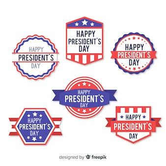 President day label set