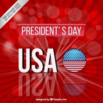 Giorno il presidente sfondo rosso