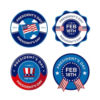 President day theme for label collection