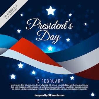 Priorità bassa di giorno del presidente astratto con bandiera degli stati uniti