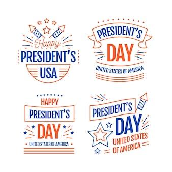大統領の日のバッジコレクション