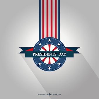 大統領の日のベクトルバッジ