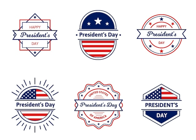 President's day badges collection