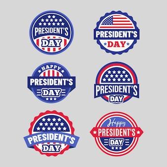 Коллекция значков ко дню президента