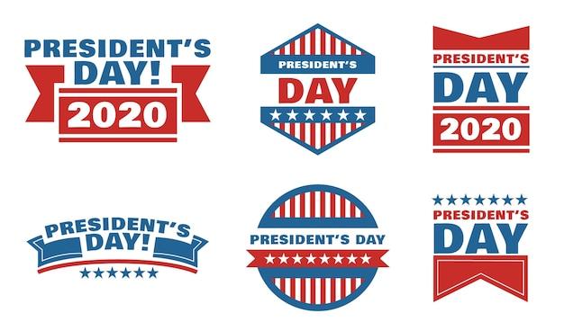 Pacchetto distintivi del giorno del presidente