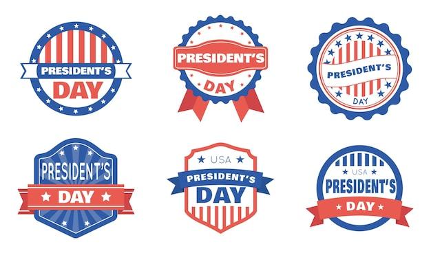 Distintivi del giorno del presidente impostati