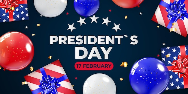大統領の日のバナー