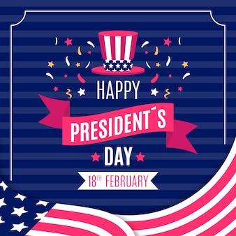 President's day colorful greeting