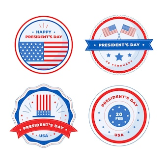 Set di badge per eventi del president's day