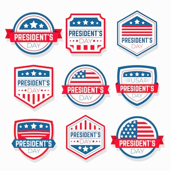 President's day event labels pack