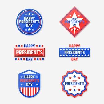 Set di etichette per eventi del giorno del presidente