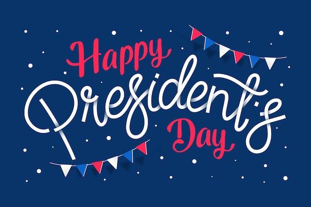 大統領の日のイベントのレタリング
