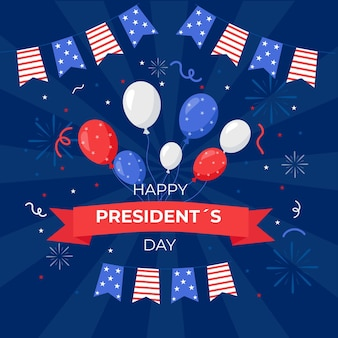 風船で大統領の日のイベントプロモーション