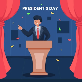 Мероприятие ко дню президента с иллюстрацией победы человека