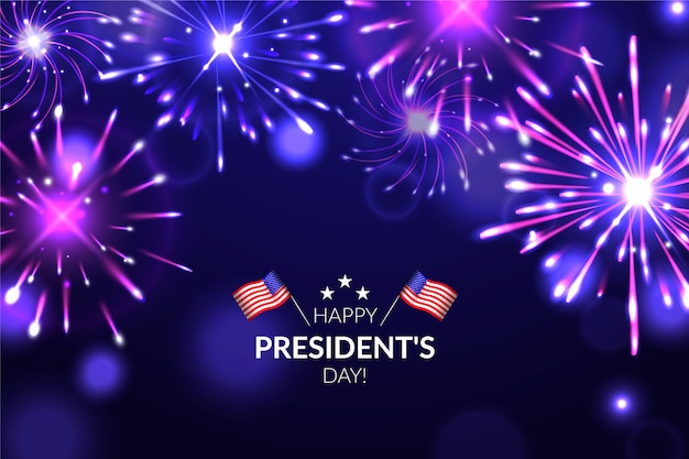 President's day fireworks background