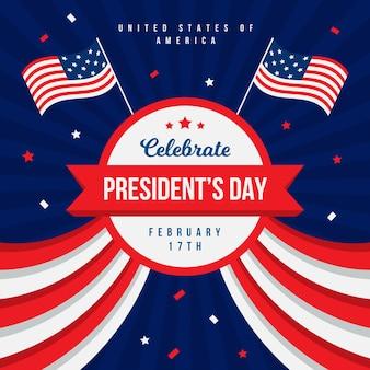 President's day in flat design