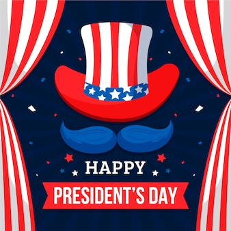 President's day in flat design