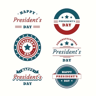 President's day label collection