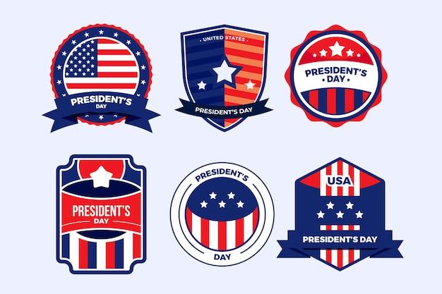 Коллекция этикеток ко дню президента