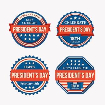 President's day label set