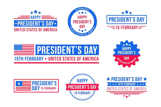 President's day labels collection