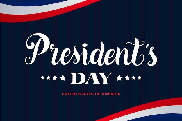 大統領の日のレタリングの概念