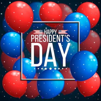 President's day realistic balloons