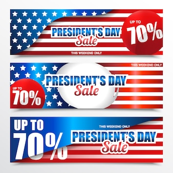 President's day sale banner
