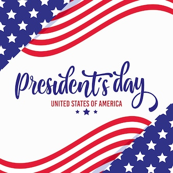 President's day with flags and stars