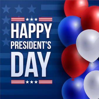 President's day with realistic balloons wallpaper