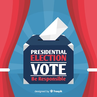 평평한 디자인의 대통령 선거 구성