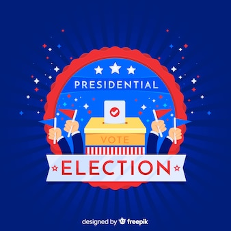 Presidential election composition with flat design