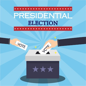 Presidential election concept illustration
