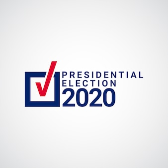 Presidential election template design illustration