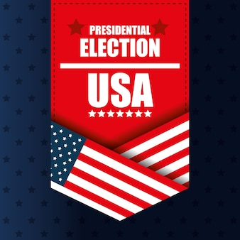 Presidential election usa banner