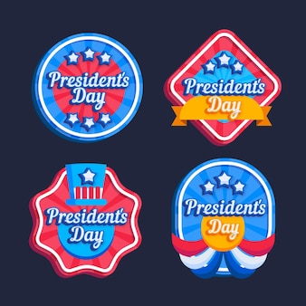 Presidents day badge collection