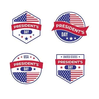 Коллекция значков дня президентов