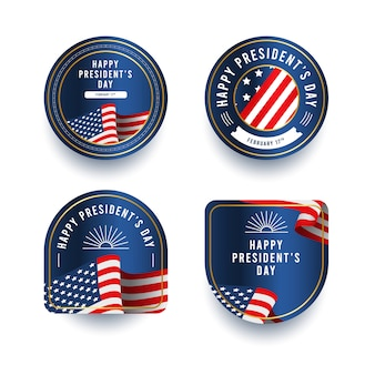 Presidents day badge collections