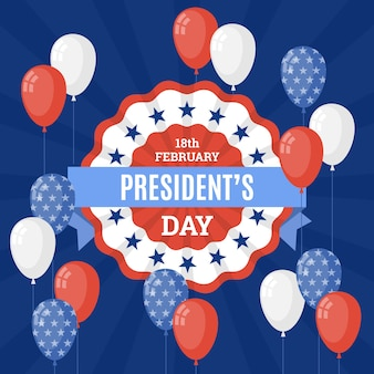 Presidents day concept in flat design