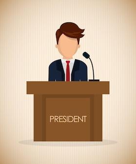 아이콘 디자인, 벡터 일러스트와 함께 대통령의 날 개념 10 eps 그래픽입니다.