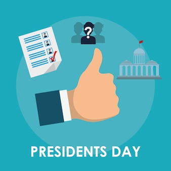 Presidents day concept with icon design, vector illustration 10 eps graphic.