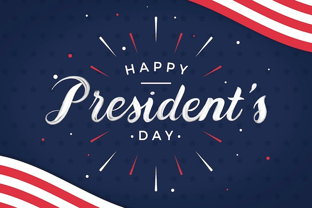 Presidents day concept with lettering