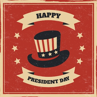 Presidents day concept with vintage design