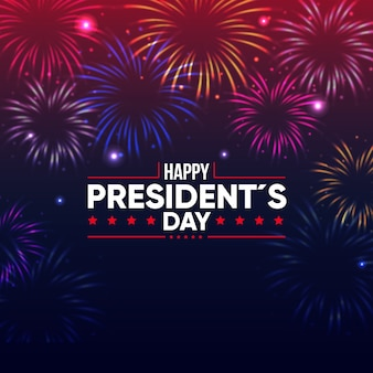 Presidents day event celebration with fireworks