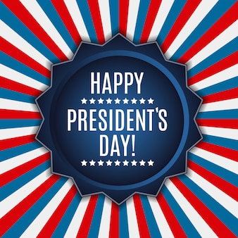 アメリカの大統領の日の背景。バナーやポステとして使用できます