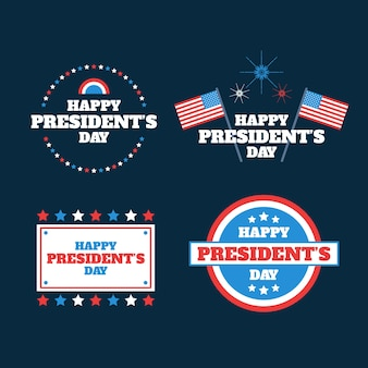 Presidents day label collection