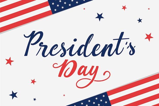 Lettering del giorno dei presidenti
