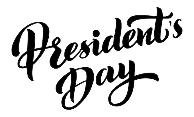 Presidents day vector illustration hand drawn text lettering for presidents day in the usa