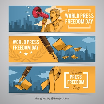 Press freedom day banners